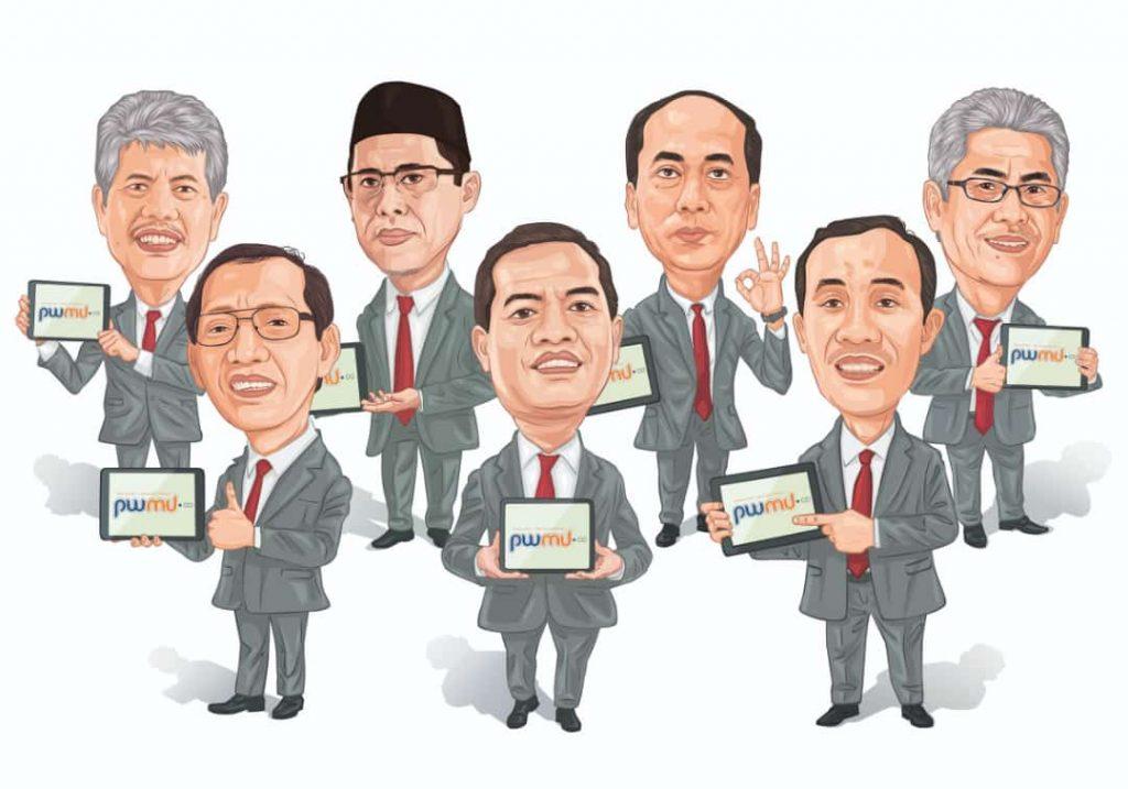 Tujuh tokoh PWM JATIM yang mendapatkan penghargaan terproduktif menulis di PWMU.CO (Istimewa/PWMU.CO)