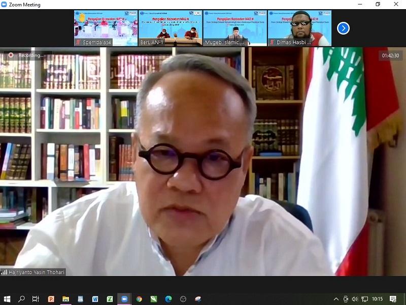 Hajriyanto Y Thohari MA mengatakan untuk membangun peradaban dunia bisa dilakukan dengan dakwah liberasi disampaikan dalam Pengajian Ramadhan 1442 H, Sabtu (24/4/21).