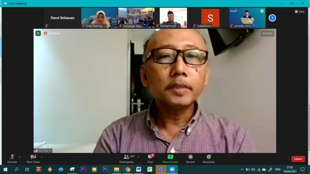 Suli Daim mengatakan ada dua cita-cita Nadjib Hamid yang disampaikan padanya (Nely Izzatul/PWMU.CO)