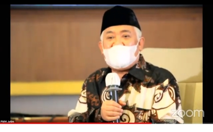 Din Syamsuddin: Pemerintah dan Rakyat Mutlak Jaga Maiyah di Tengah Pandemi (Nely Izzatul/PWMU.CO)