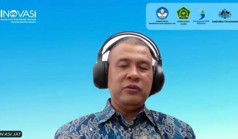 Program Inovasi untuk meningkatkan mutu pendidikan Sekolah Dasar disampaikan M Adri Budi Sulistiyo, Senin (5/4/21).