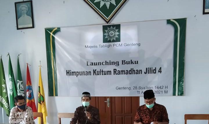 PCM Genteng launching buku Kumpulan Kultum Ramadhan Jilid 4 di Gedung Muhammadiyah Genteng Kabupaten Banyuwangi, Ahad (11/4/2021)