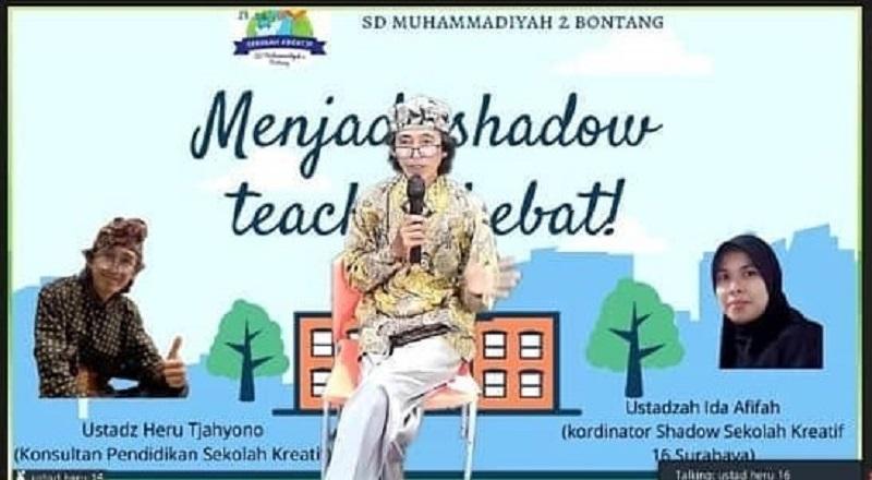 Jadi shadow teacher hebat harus mampu  transfer knowledge dan jadi mediator dari guru kelas ke siswa secara personal disampaikan Heru Tjahyono, Senin (12/4/21).