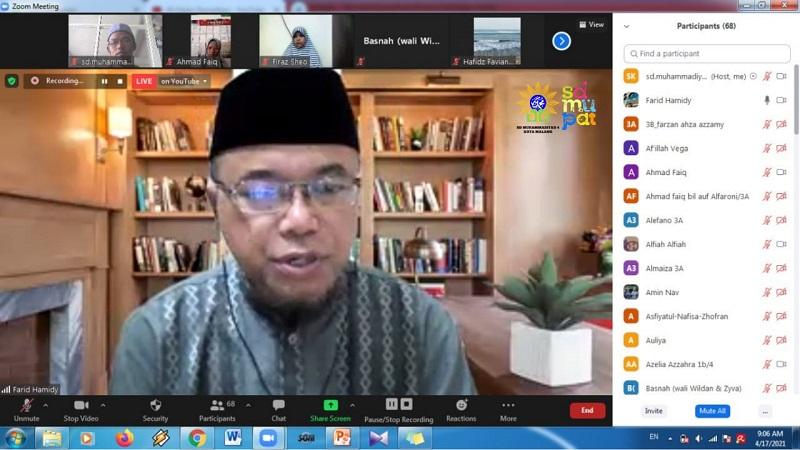 Ramadhan momentum untuk meningkatkan 5 M, yaitu membaca, memahami, menghafal mengamalkann dan mendakwahkan al-Qur'an, Sabtu (17/4/21).