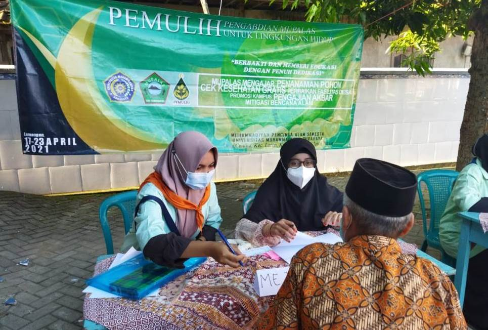 Pengabdian Mupalas UMSurabaya di Desa Centini, Laren, Lamongan, atau bantaran Sungai Bengawan Solo, Sabtu-Jumat (17-23/4/21).
