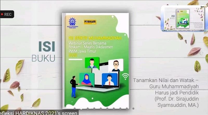 Foskam Jatim melakukan soft launching Buku PJJ Efektif Muhammadiyah 2021 yang merupakan series I-VII Webinar, Kamis (27/5/21).