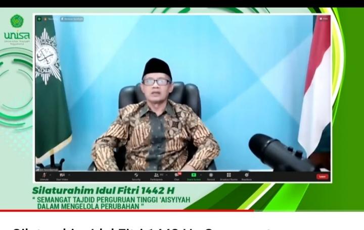 Haedar Nashir: Unisa Harus Semai Cendekiawan dan Jadi Pusat Keunggulan (Tangakapan layar Nely Izzatul/PWMU.CO)