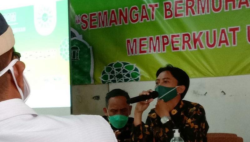 PCM Rungkut menggelar Baitul Arqam angkatan pertama dengan mengangkat tema Semangat Bermuhammadiyah dalam Memperkuat Ukhuwah, Sabtu (1/05/21).