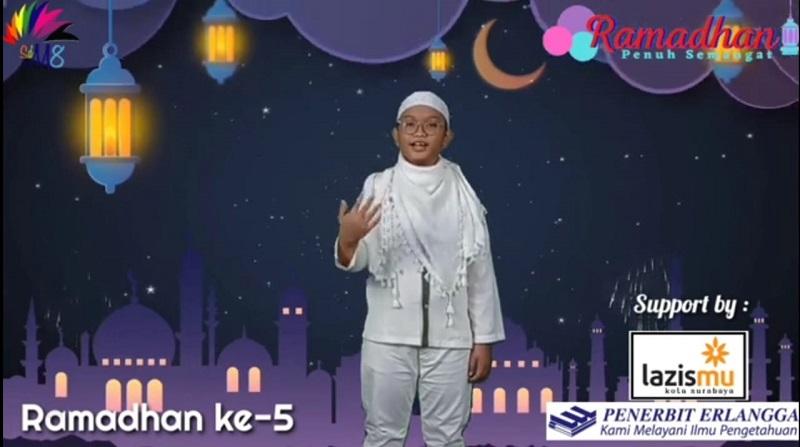 Suka duka mengikuti kegiatan Ramadhan secara daring disampaikan Muhammad Haykal Ridho Pradana dalam kultum, Sabtu (17/4/21).