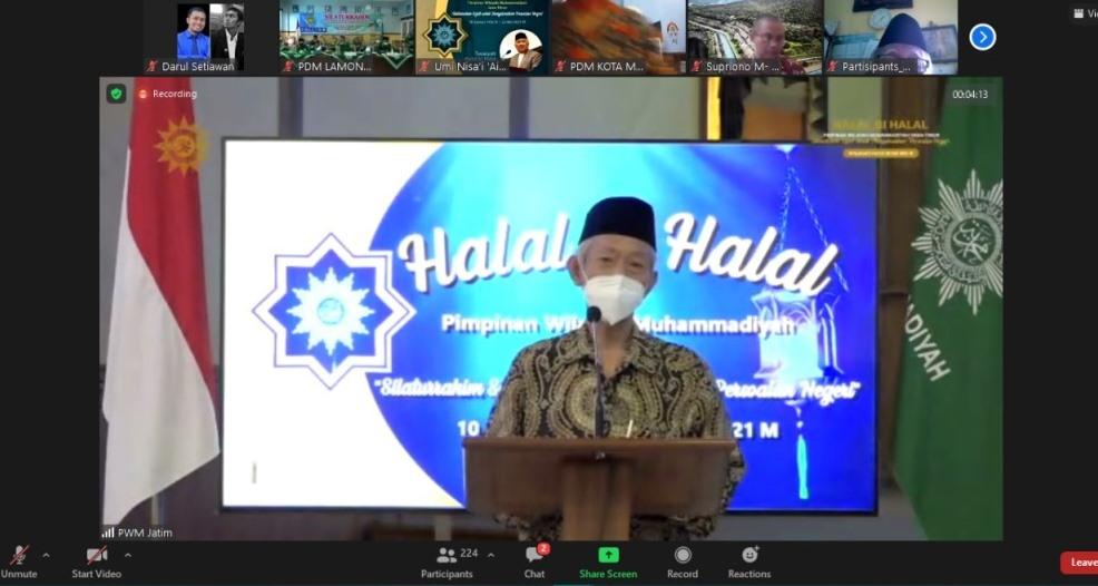 Kisah perempuan lulus 'TWK' disampaikan Dr Saad Ibrahim MA dalam Halal bi Halal Pimpinan Wilayah Muhammadiyah Jatim, Sabtu (22/5/21).