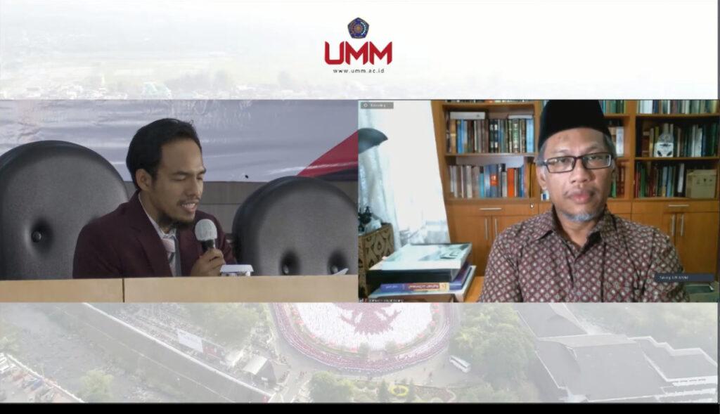 UMM gelar seminar Internasional. Datuk Ahmad Hidayat Buang (kanan) alah satu narasumber dari Universitas Malaya, Malaysia (Nely Izzatul/PWMU.CO)
