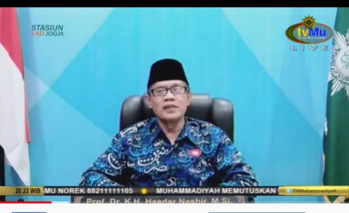 Haedar Nashir saat menyampaikan iftitah pada Pengajian Pimpinan Pusat Muhammadiyah (Nely Izzatul/PWMU.CO)