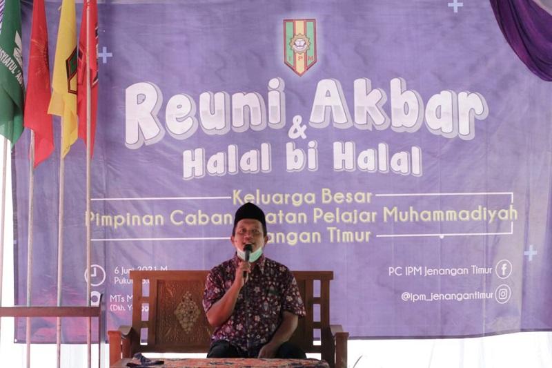 Perlunya kader IPM yang kreatif untuk mengembangkan organisasi disampaikan Dr H Syarifan Nurjan MA dalam Reuni akbar dan Halal bi Halal, Ahad (6/6/21).