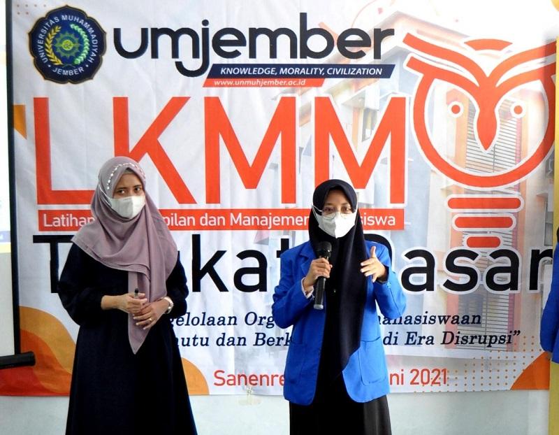 UM Jember mengadakan Pelatihan Keterampilan dan Manajemen Mahasiswa Tingkat Dasar (LKMM-TD) gelombang pertama, Jumat-Ahad (18-20/6/21).