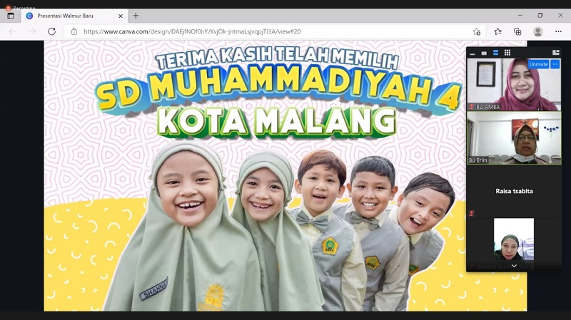 SD Mupat menggelar sosialisasi ajaran baru secara virtual yang diikuti wali siswa kelas I dan VI, Rabu (10/7/21).