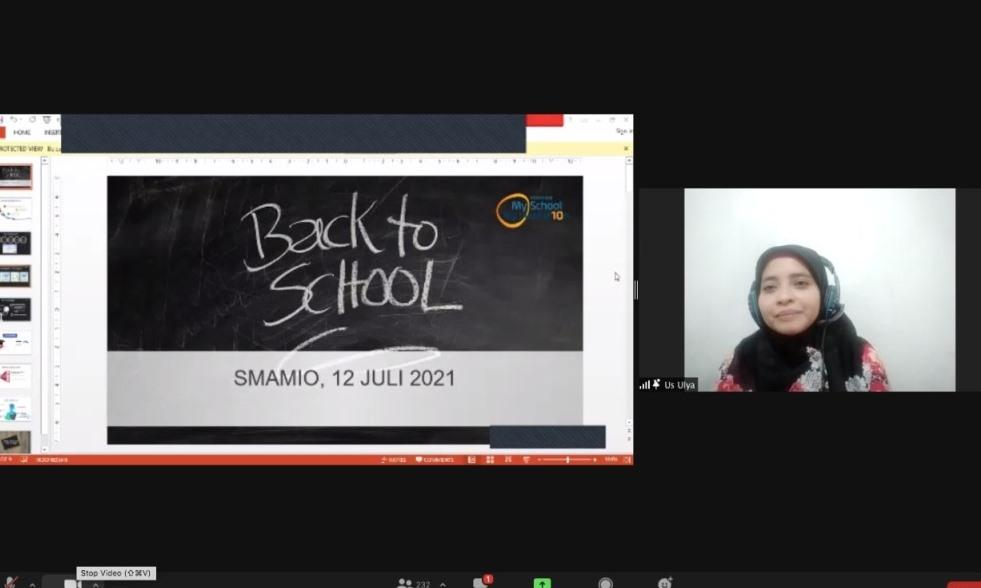 Fortasi dan BTS awali semangat Smamio, seperti yang disampaikan Waka Bidang Pengembangan Pendidikan Smamio Ulyatun Nikmah SPd.