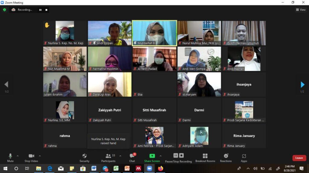 FKIK Unismuh Mengelar Workshop Penulisan Publikasi Internasional Terindeks. Workshop diselenggarakan Fakultas Kedokteran dan Ilmu Kesehatan (FKIK) Universitas Muhammadiyah (Unismuh) Makassar secara daring dimulai pekan ini, Senin (30/8/21)