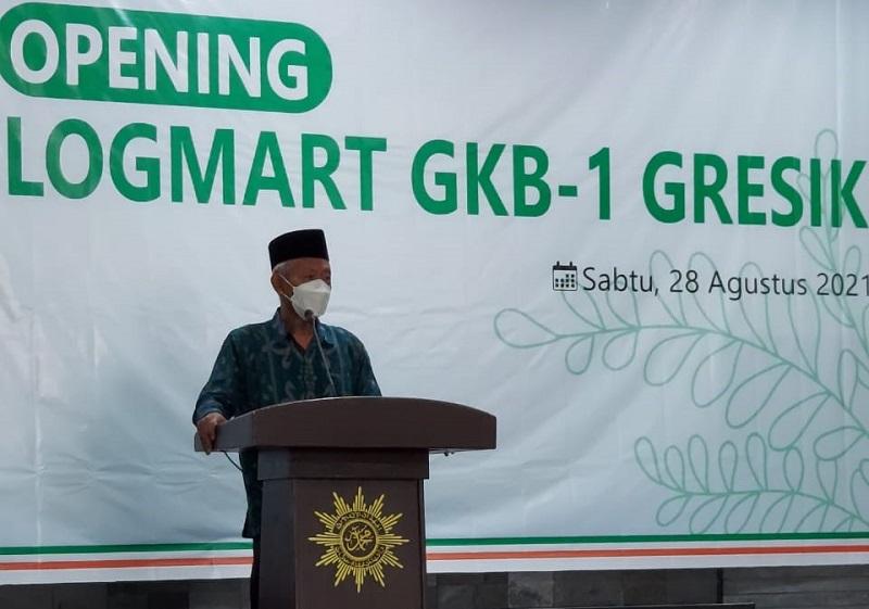 Ketua PWM Jawa Timur Dr KH Saad Ibrahim MA LOG-Mart GKB harus diupayakan menjual produk dari warga Muhammadiyah, Sabtu (28/8/21).