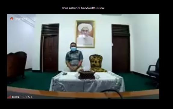 Bupati Gresik H Fandi Akhmad Yani SE ucapkan terima kasih dan selamat milad ke-112 Hijriah pada Muhammadiyah, Jumat (30/7/21).