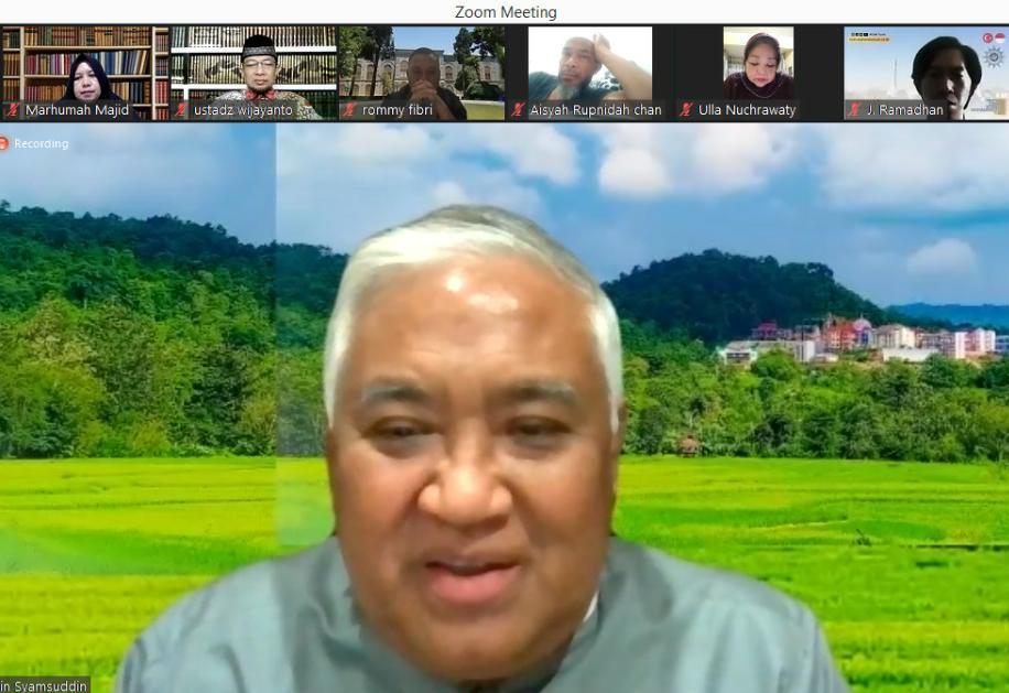 Ingat Pesan Din Syamsuddin agar Keluarga tanpa KDRT. Pesan Pembina Pengajian Virtual Orbit itu diungkap Anggota Majelis Hukum dan HAM Pimpinan Pusat Aisyiyah Yulianti Muthmainnah SHI MSos, Kamis (26/8/21) malam.