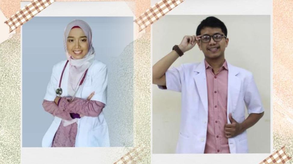 Meretas asa jadi dokter, dua alumnus MIM 1 Kedungadem, Bojonegoro, yang dikukuhkan jadi dokter di Unair dan Universitas Jenderal Soedirman.