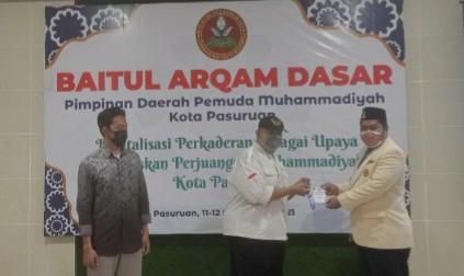 Baitul Arqam Dasar digelar Pemuda Muhammadiyah Kota Pasuruan di Aula Pimpinan Daerah Muhammadiyah (PDM) Kota Pasuruan, Sabtu-Ahad (11-12/9/2021).