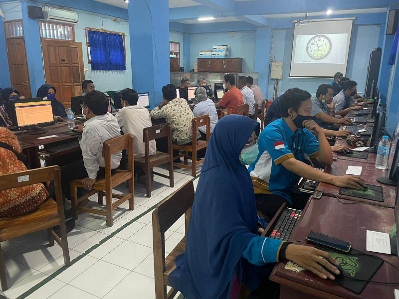 SMKM 2 Taman Sidoarjo mengikuti Survey Lingkungan Belajar Program Pusat Asesmen dan Pembelajar Kemendikbud Ristek, Rabu-Kamis (22-23/9/21).