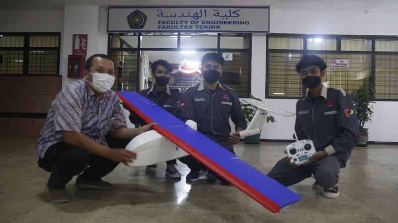 Tim Robotika Universitas Muhammadiyah Malang (UMM) berlaga di Kompetisi Unmanaged Aerial Vehicle (UAV) Turki, Sabtu (11/9/21).