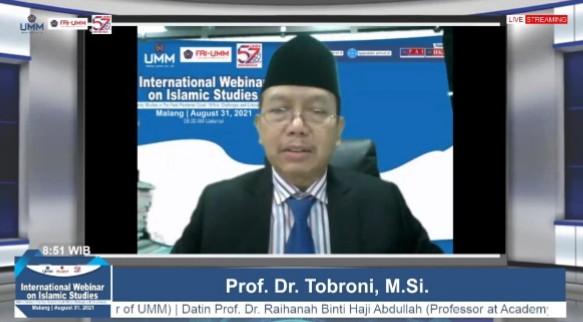 UMM gelar webinar internasional bahas kajian Islam pasca pandemi. Kegiatan ini digelar oleh Fakultas Agama Islam UMM, Selasa (31/8/2021).